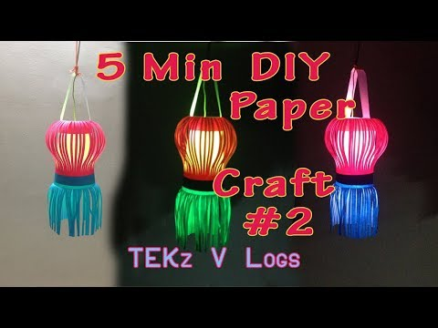 Simple Paper Craft for Light #2 | Hanging | DIY Paper Craft | Paper Kandle | Decor For Home