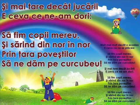 SĂ FIM COPII MEREU – Cantece pentru copii in limba romana