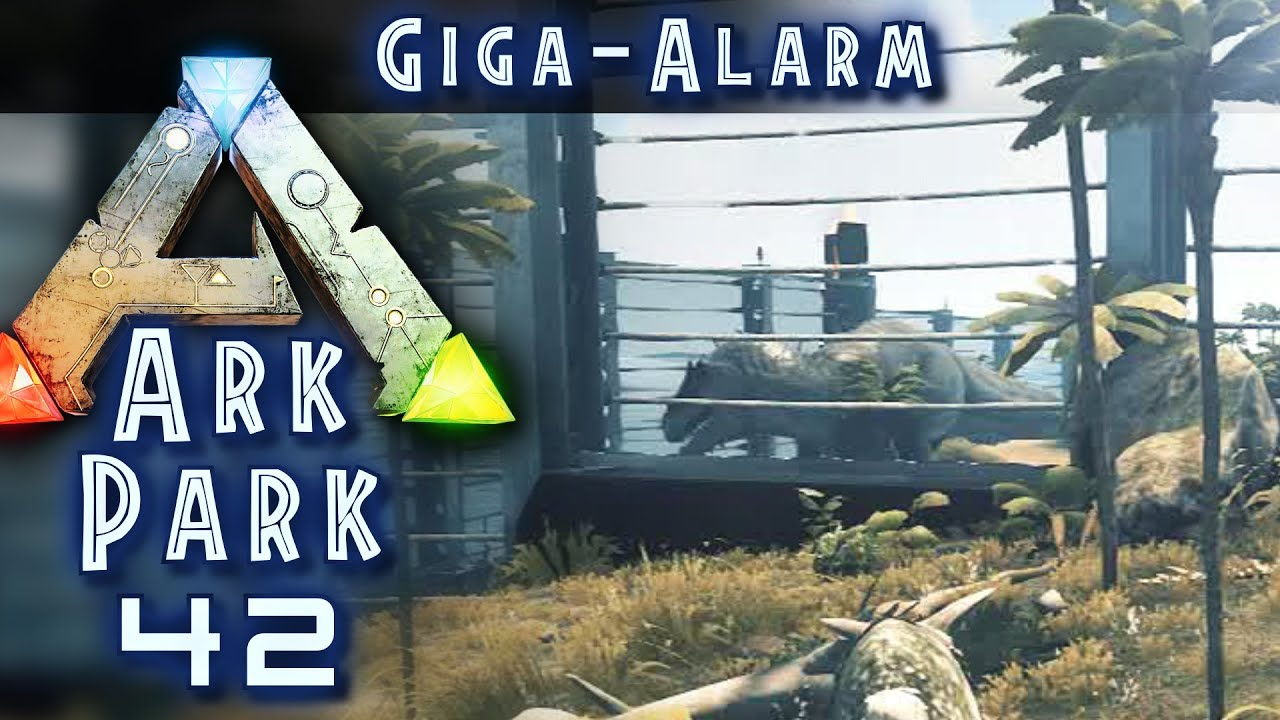 ark park 42 wilder giga hinterm zaun ark deutsch german ark survival evolved youtube. Black Bedroom Furniture Sets. Home Design Ideas