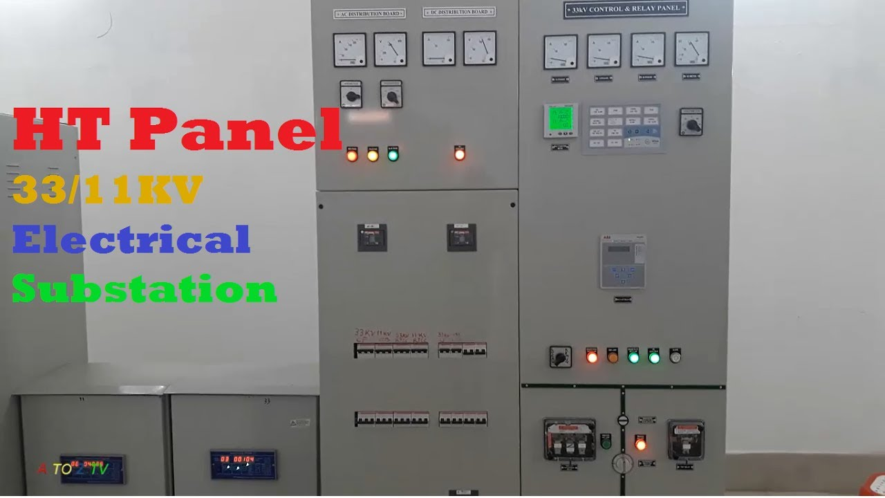 Ht Panel Installed  33  11kv  Inside An Electrical Substation