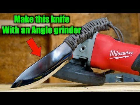 Knife Making - Make A Knife With An Angle Grinder And Basic
