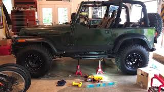 Jeep YJ Side Armor with Step Installation