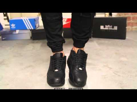 Nike Air Max 90 Leather Black Black On Feet Video At Exclucity