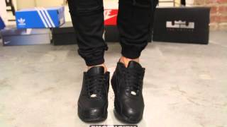 Nike Air Max 90 Leather Black - Black on-feet video at Exclucity