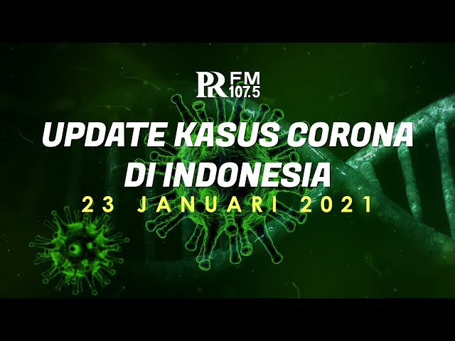 Update Kasus Corona di Indonesia 23 Januari 2021