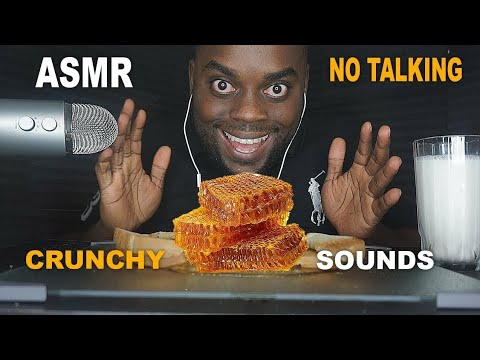 My first ASMR video! How was it? Eating HONEYCOMB - No Talking