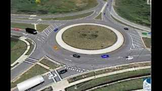 How to drive a two (2) lane roundabout