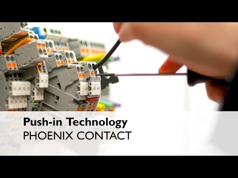 Connect all types of electrical conductors with Push-in Technology - Phoenix Contact