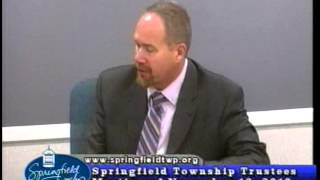 Springfield Township Trustees Meeting of November 12, 2013