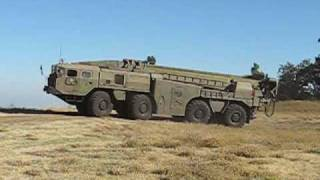 Scud missle launcher in motion