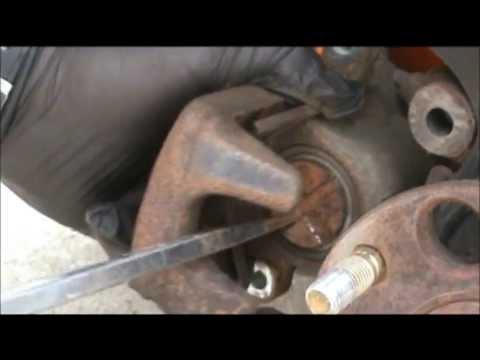2006 Honda Accord replacing rear brake pads and rotors - YouTube