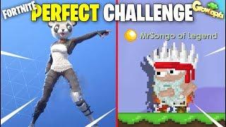 PERFECT GROWTOPIA VS FORTNITE DANCE CHALLENGE (TOP 100 PERFECT TIMING)