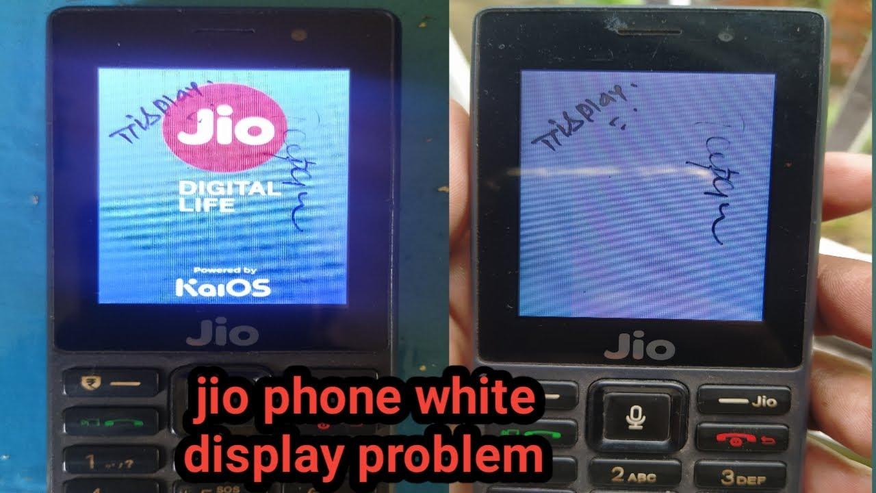 jio phone white display problem||jio display change