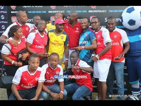 Sol Campbell Alivyosherehekea Ushindi Wa Arsenal Na Mashabiki Wa Tanzania