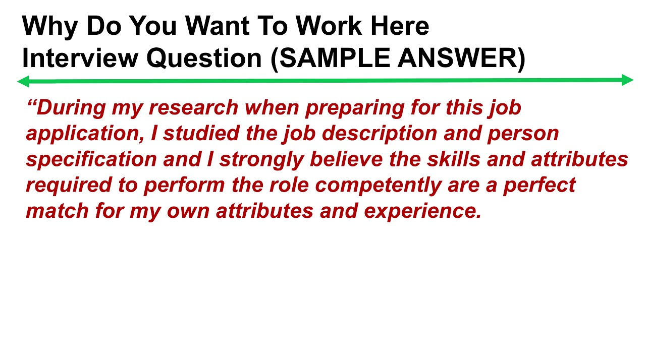why do you want this job best answer examples
