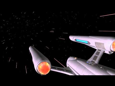 VFX Test - Animated Bussard Ramscoops - Warp 7 Starship