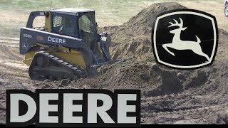 John Deere 323D Tracked Skid Steer Working