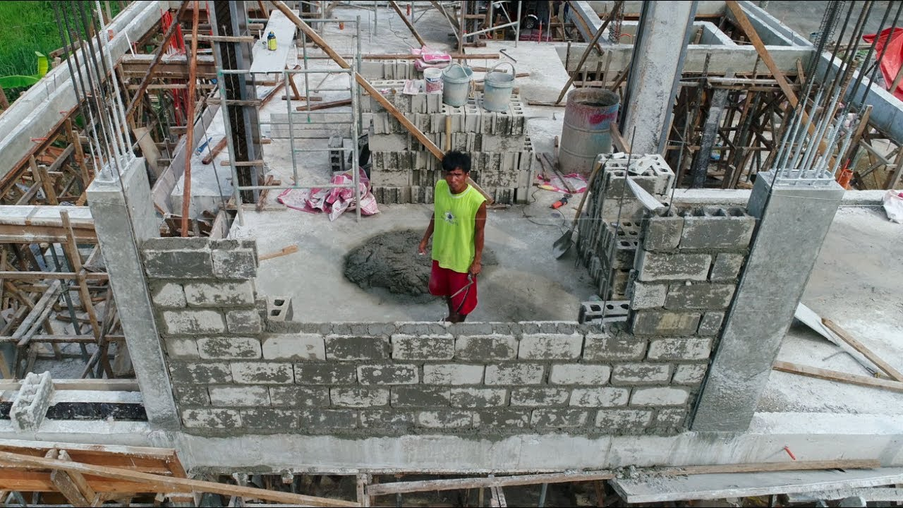 Villa feliz episode 106 walls are going up everywhere house building in the philippines