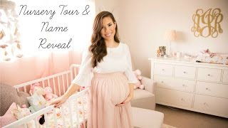 Baby Girl Nursery Tour & Name Reveal | Hayley Paige