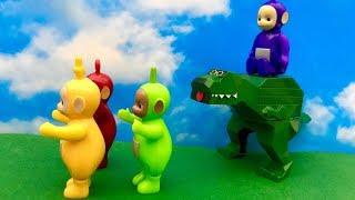 Teletubisie i dinozaur ☺ Co to takiego jest ☺ Bajka dla dzieci PO POLSKU