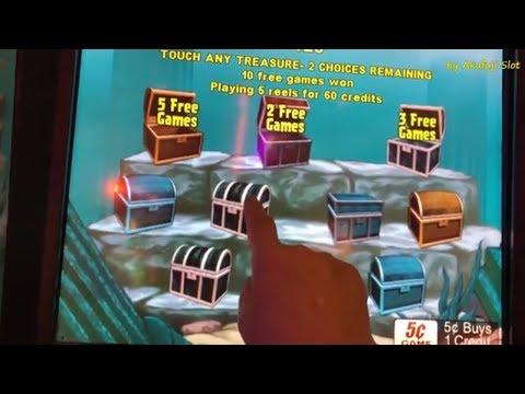 Queen of Atlantis 5c Slot Machine and Fortune King GOLD 1c Slot, San Manuel Casino, Akafujislot
