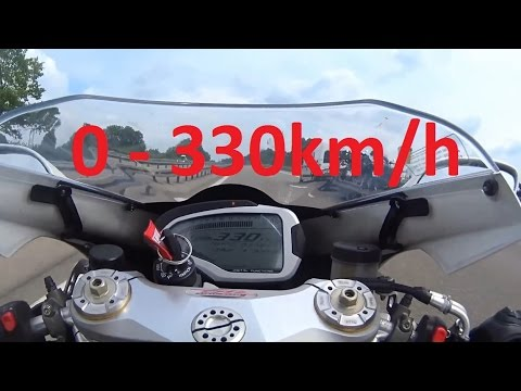 MV Agusta F4 RR - Acceleration 0-330km/h & Startup & Exhaust Sound & Dyno