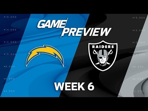 Los Angeles Chargers vs. Oakland Raiders   Week 6 Game Preview   NFL