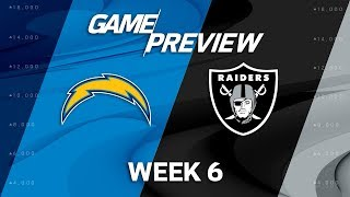 Los angeles chargers vs. oakland raiders | week 6 game preview | nfl