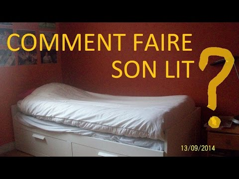 comment faire son lit simplement youtube. Black Bedroom Furniture Sets. Home Design Ideas