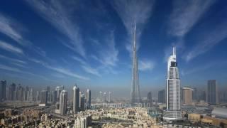 Clouds & Contrails over Downtown Burj Dubai