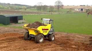 wacker neuson 10 ton dumper with cab is the way forward for tim pearman of worcestershire