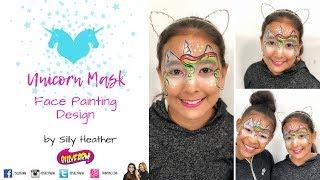 Easy Unicorn Mask Face Painting Design