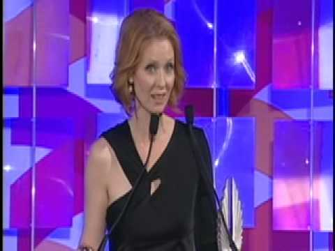 Michael Patrick King Intros & Cynthia Nixon Accepts Vito Russo Award @ GLAAD: Speech! from YouTube · Duration:  2 minutes 36 seconds