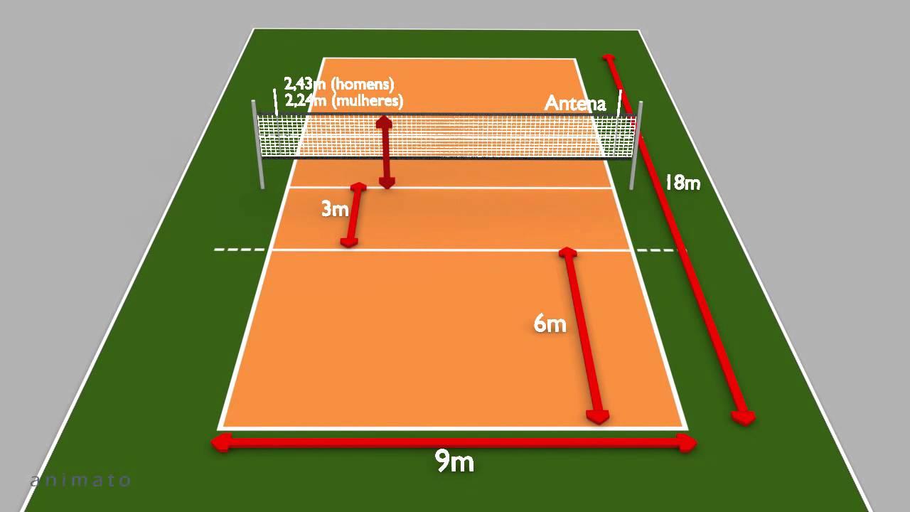 ee6357c56b960 Quadra de voleibol - Animação 3D - YouTube