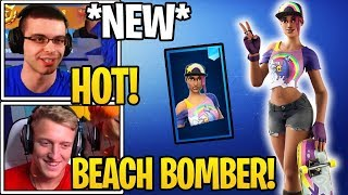 "Streamers React To *NEW* ""BEACH BOMBER"" SKIN in Fortnite (Summer Skins)"