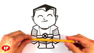 How to Draw Colossus from X-men - Easy Things to Draw