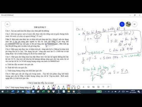 Tổng Ôn tập Vật Lý – Lớp 8 chi tiết từng dạng bài tập phần 1