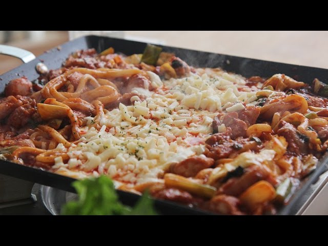 Cheese Dakgalbi (Spicy Stir-Fried Chicken topped with Cheese) : Honeykki 꿀키