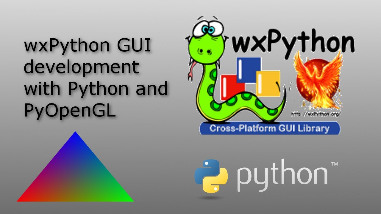 wxPython GUI and PyOpenGL - 20 - final, exporting to  exe with pyinstaller