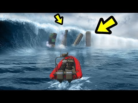GTA 5 - The GREATEST Tsunami EVER!! (1000ft High Waves)