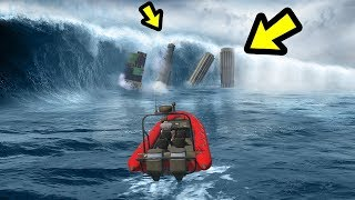 GTA 5 - The GREATEST Tsunami EVER!! (1000ft High Waves)