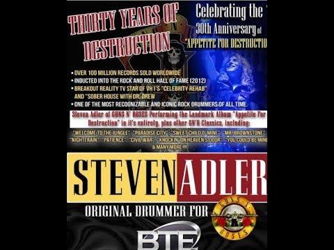 Guns N' Roses drummer Steven Adler 30th Anniv. tour - Pop Evil interview on new album!