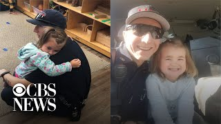 Mom praises firefighter for comforting her daughter with autism