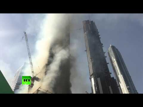 RAW: Fire breaks out near iconic Burj Khalifa & Dubai mall