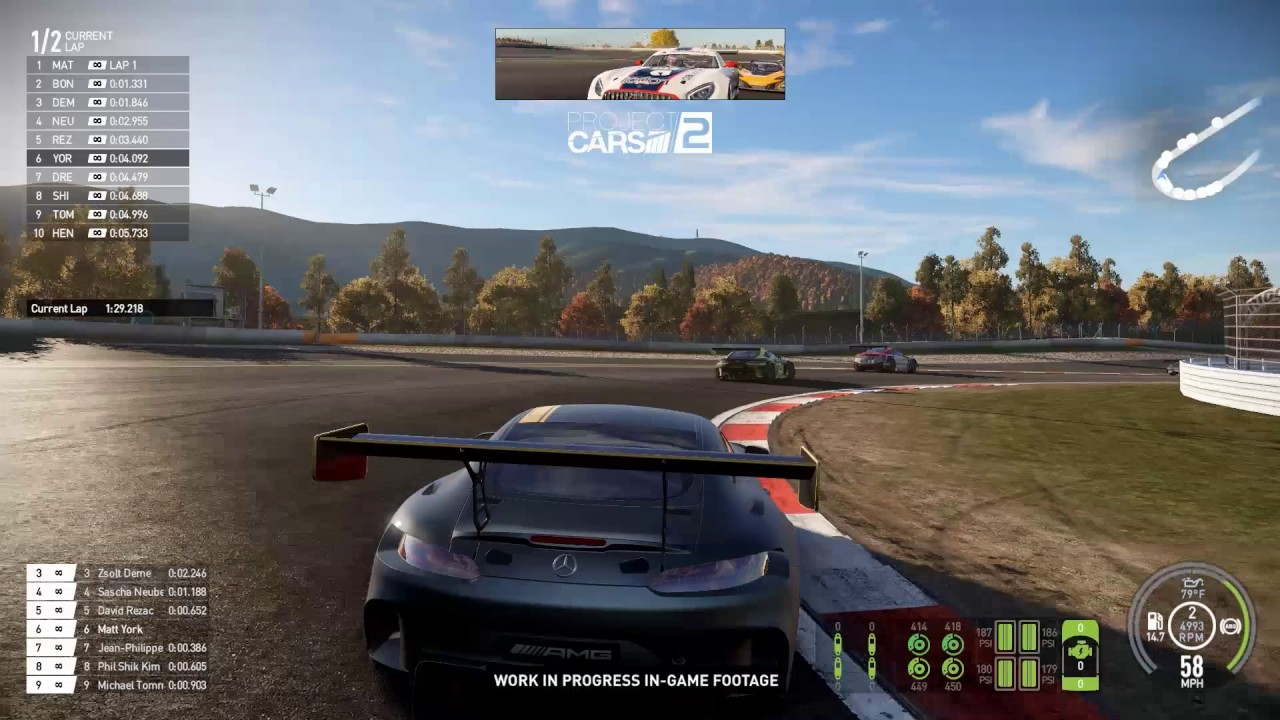 project cars 2 ps4 xone pc amg gt3 chase gameplay. Black Bedroom Furniture Sets. Home Design Ideas