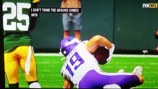 Adam Thielen #19 completed catch challenge Vikings/Packers