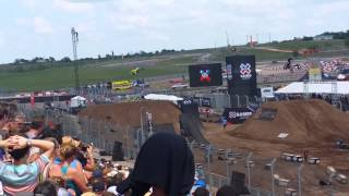 Dirt bikes freestyle at X Games 2014