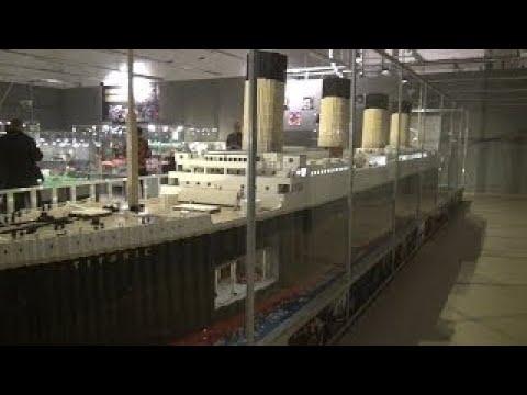 Big LEGO exhibition , Titanic a length of 11 meters ,Wystawa Lego ,Lego Ausstellung, Fun f