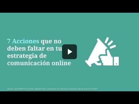 7 Acciones de estrategia de comunicación online