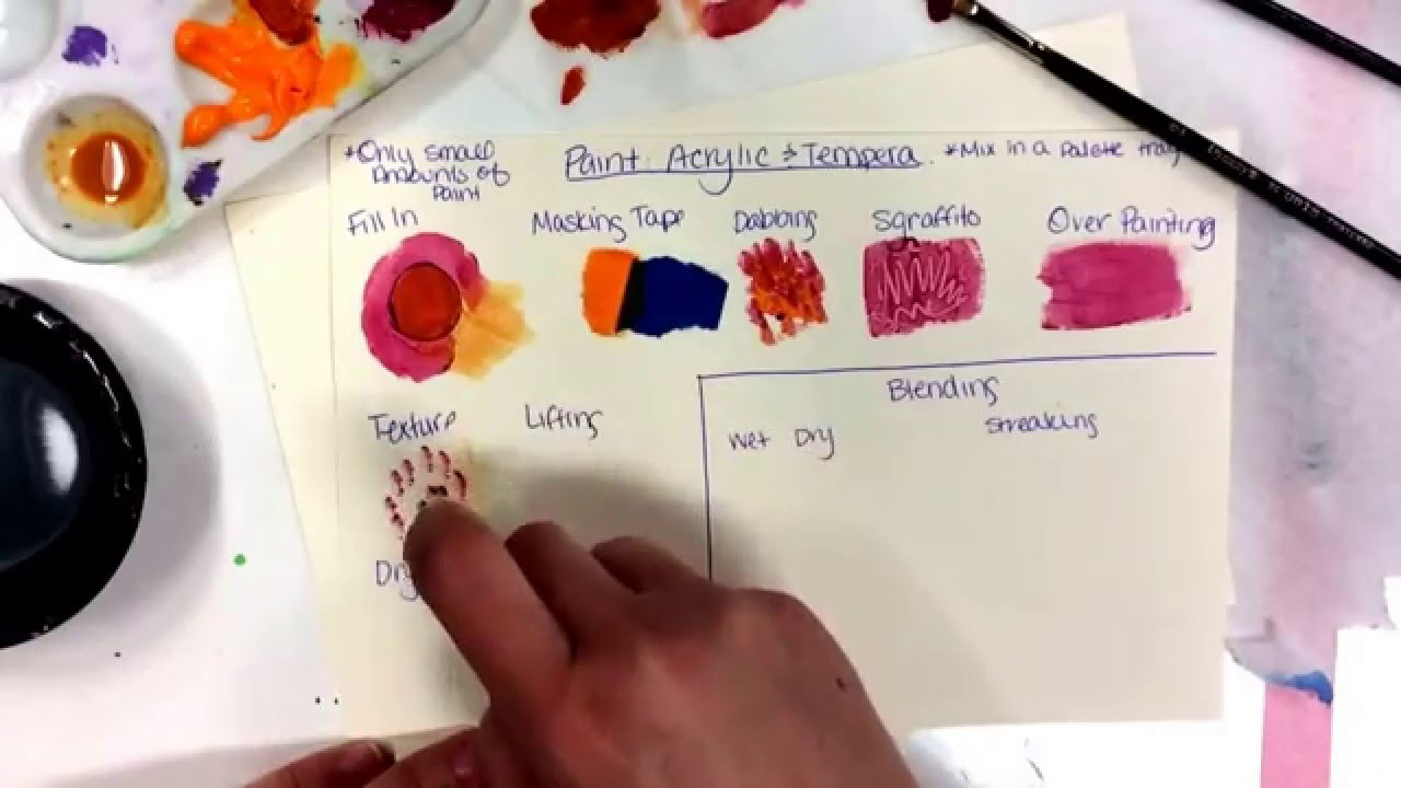 intro to painting acrylic tempera youtube